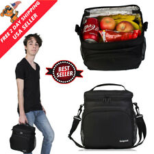 Insulated Lunch Box Tote Bag Hot And Cold Food Container Cooler For Men Women