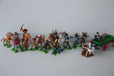 Vintage Britains Deetail Soldiers COWBOYS & INDIANS & US CAVALRY x 21