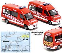 Mickon 50094 Decals MB Sprinter MTF MTW Feuerwehr Bremen passend Herpa 1:87 H0