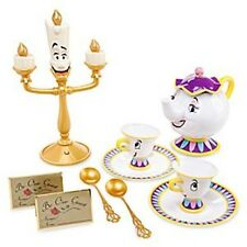 Disney Beauty And The Beast Singing Tea Set Talking Mrs Potts Light Up Lumiere