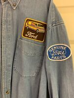 "Edwards ""Ford"" 1090-007 Denim 100% Cotton Long Sleeve Mens Work Shirt XL-XLT"