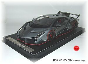 KYOSHO J005G Lamborghini VENENO Grau-Metallic - 1:18 #NEU in OVP