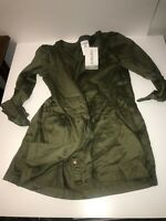 NWT Carters Girl Army Green Button Tunic Dress 5T