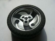 Lego 1 roue argent set 8448 / 1 metallic silver wheel and tire