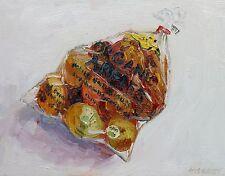 "Bag of Apples still life John Kilduff 11"" x 14"" oil on linen"
