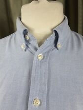 Ralph Lauren 100% Cotton Blue Oxford Button Down Collar UK14-16