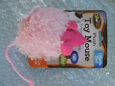PLUSH TOY MOUSE with Rattle for Cats, as shown Pink