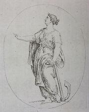 C. B. RODE `DIE HOFFNUNG, ALLEGORISCHE PERSONEN, K. W. RAMLER` RADIERUNG, 1788