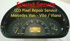 Mercedes VAN VITO VIANO Speedo Instruments Clock Cluster Pixel Repair Service