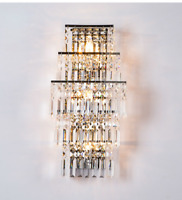 60cm Luxury LED Modern Crystal Wall Lamp Sconce Living Room Wall Light Fixture