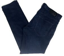 Mens Perry Ellis Dark Blue Casual Denim Jeans Pants Size 36 X 32