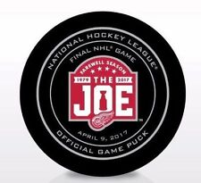 Detroit Red Wings FINAL GAME 2017 NHL AUTHENTIC FAREWELL Puck WITH DATE IN-STOCK