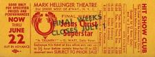 "Andrew Lloyd Webber ""JESUS CHRIST SUPERSTAR"" Tim Rice 1973 Closing Promo Ticket"