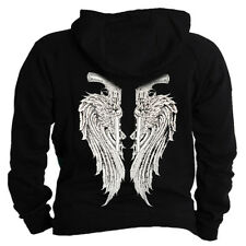 Angel wings on back guns winged design shirt Hoodie Hooded sweater Sweatshirt