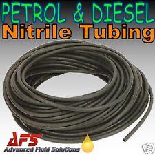 """6mm 1/4 """"I d lisse noir en caoutchouc nitrile tube Carburant Essence Diesel Huile Tuyau Ligne"""