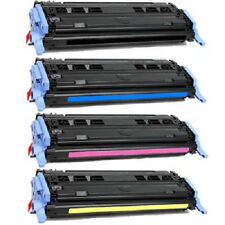 4x HP 1600 2600n Q6000A Black & Color Toner Cartridge Set
