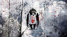 BANKSY APE MONKEY  Graffiti Street Art A1 SIZE PRINT FOR YOUR FRAME
