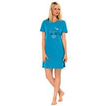 Schiesser Damen Sleepshirt Nachthemd , 90 cm türkis exklusiv