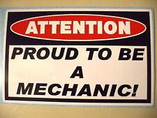 FUNNY MECHANIC WARNING DIESEL TRUCK CAR ATV SLED TOOLBOX STICKER DECAL PROUD 367