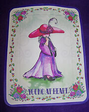 3X PURPLE T SHIRT FOR RED HAT LADIES OF SOCIETY W/ GIRL IN RED HAT PURPLE DRESS