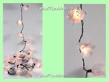 LOTUS BLÜTEN LED Lichterkette Stoffblumen Hochzeitsdeko 20 St Lampe WEISS - NEU