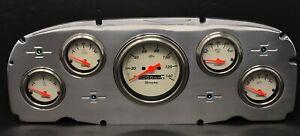 1959 Ford Car 5 Gauge Dash Panel Polished Aluminum Insert Set Mechanical SK
