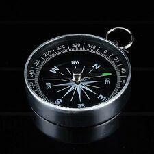 New Silver Portable Pocket Compass For Outdoor Camping Hiking Sports Navigation