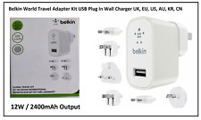 Belkin 2.4A Global Travel Kit USB Charger for iPhone iPad Tablet Smartphone