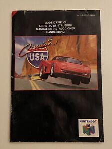 Nintendo N64 - Cruis'n USA - Instructions Manual - EUR (not UK) NUS-P-NCUP-NEU4