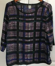 Mandy Evans Women's Multicolor 3/4 Sleeve Polyester Tunic Size L