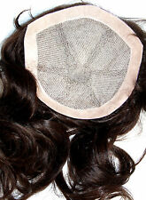 7x7 Full Lace Silk Top Closure Human Hair Indian Remy Remi Partial Wig In STOCK