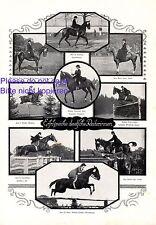 Erfolgreiche Reiterinnen 1924 XL Seite mit 9 Fotoabb. Wienand Freudling Mautitz
