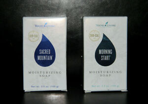 NEW SEAL Young Living SACRED MOUNTAIN + MORNING START gentle moisturizing SOAP