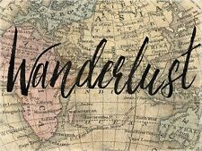 WANDERLUST - WORLD MAP - FINE ART PRINT POSTER 13x19 - BA1535