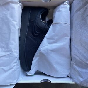 DS Size 10.5 - Nike Air Force 1 Low x Stussy Triple Black