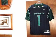 UH HAWAII #1 Warriors Football Jersey NCAA Shirt Aloha Top Vtg Bows Youth Boys S