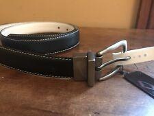 New Nike Golf Reversible Leather Belt Black White Medium 36-38 1�