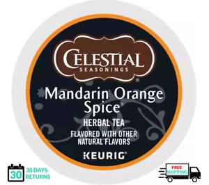 Celestial Seasonings Mandarin Orange Spice Keurig Tea K-cups YOU PICK THE SIZE