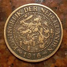 1916 NETHERLANDS 2 1/2 CENT COIN - HIGH GRADE - #1291