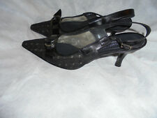 RUSSELL & BROMLEY WOMEN'S GREY TEXTILE BUCKLE STRAP SANDAL SIZE UK 4 EU 37 US 7