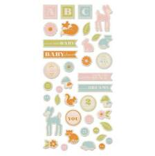 WOOD STICKERS  (LITTLE ONE COLLECTION)  by WE R MEMORY KEEPERS    42642-4