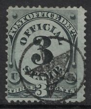 Scott O49- Used, Circled Star Fancy Cancel- 3c Official Mail, Post Office Dept