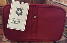 Victorinox Swiss Army Zip-Around Hanging Travel Shave Kit Red 31373203