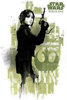 Star Wars - Rogue One - Jyn Grunge - Poster Plakat Größe 61x91,5cm