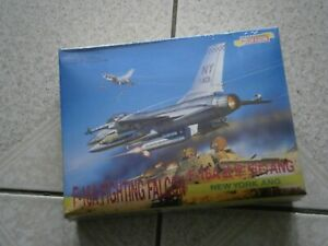 MAQUETTE AVION F-16A FIGHTING FALCON DRAGON 4568 (2000) 1/144 - 1.144eme