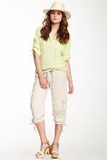 NEW Da Nang Silk Drawstring Hem Pants in Mastic Size X-SMALL SKG5357Z