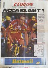 L'Equipe Journal 30/6/1999; Accablant; l'union cycliste réintègre Virenque et Sa