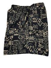 New listing Swim Trunks Men's XL Lined R&Y Sport  Polynesian Print 36x7 Black Tan Green