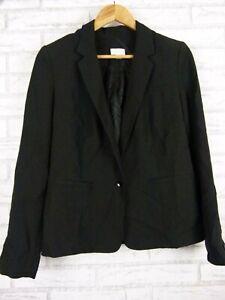 Witchery Jacket Blazer Black One button V-neck Sz 10