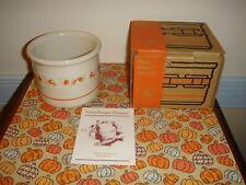 Longaberger Pottery Candy Corn Halloween One Pint Crock